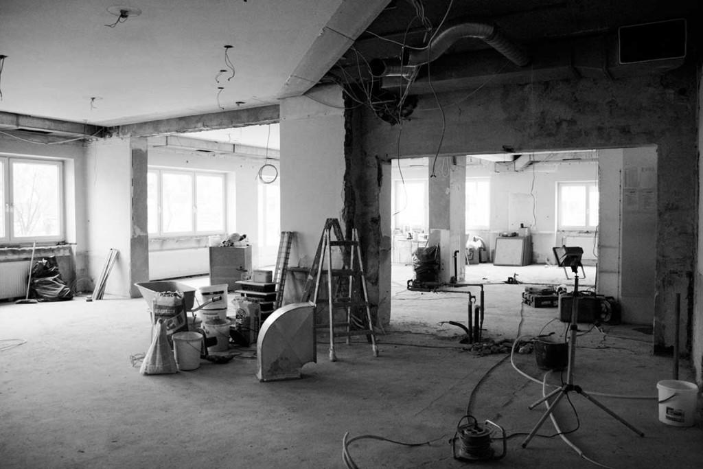 Die Baustelle im März 2015